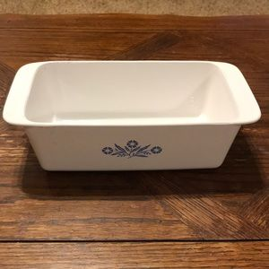 Corning ware cornflower blue loaf pan